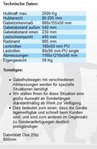 Hubwagen kurz Beschreibung